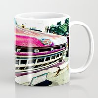 ford Mugs featuring Ford Tough by Kim Ramage