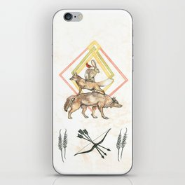 AZTEC Animals with Bow iPhone Skin