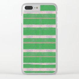 serape simplified in green Clear iPhone Case