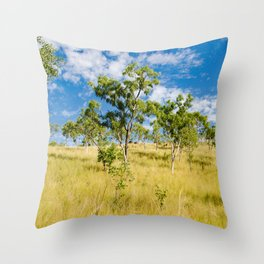 Savannah landscape Throw Pillow