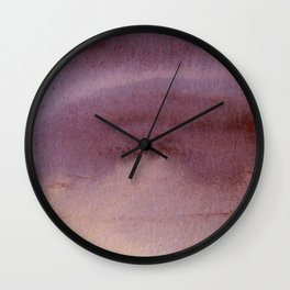 Rosy Haze abstract painting Wall Clock