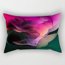Cave of the world of color by Nico Bielow Rectangular Pillow
