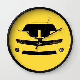 yellow car Wall Clock