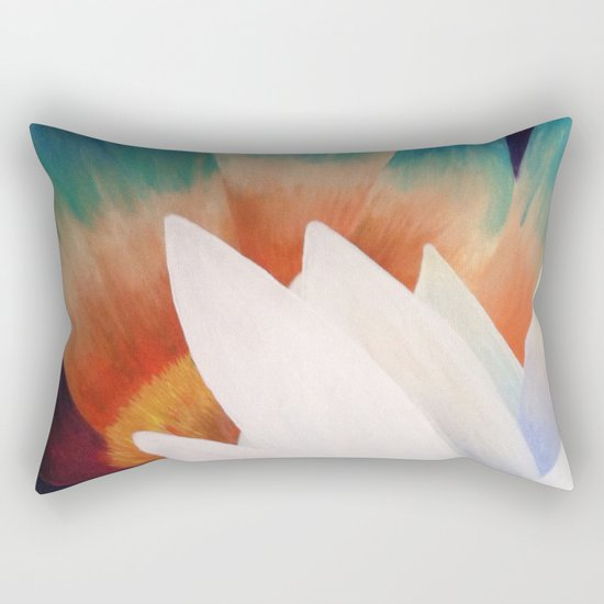 Juxtaposed Flowers Rectangular Pillow