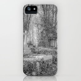 Highgate Cemetery London iPhone Case