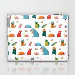 Scandinavian woodland animals pattern print Laptop & iPad Skin