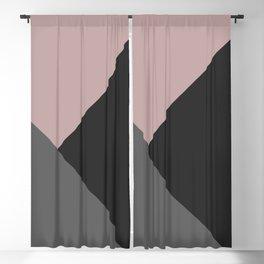 Dusty Blush meets Charcoal & Gray Geometric #1 #minimal #decor #art #society6 Blackout Curtain