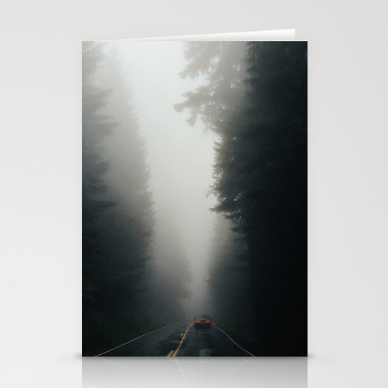 Dark Forest Driving Stationery Cards