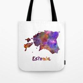 Estonia in watercolor Tote Bag