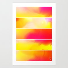 Astro Hue (Five Panels Series) Art Print