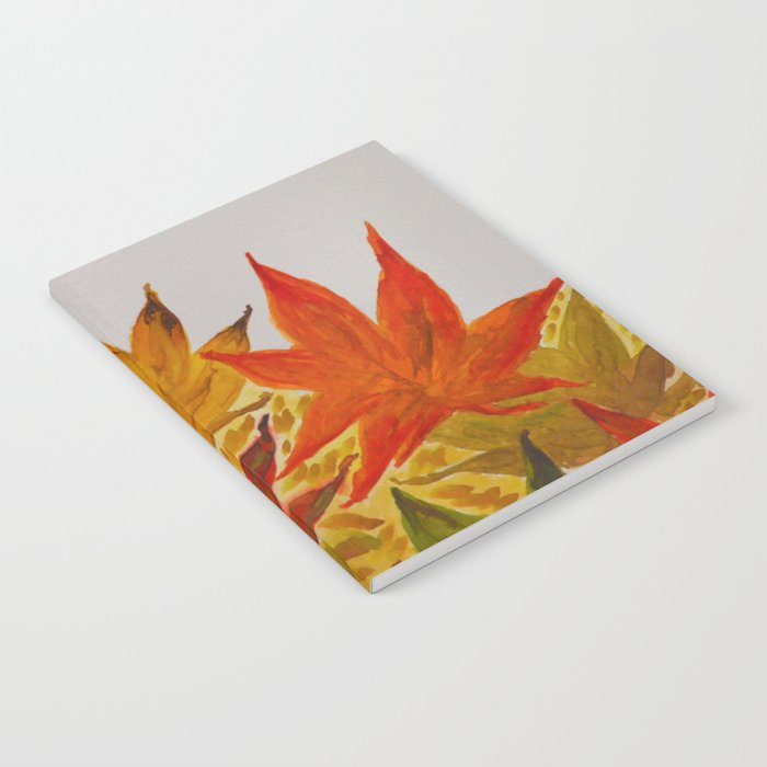 Autumn abstract watercolor 03 Notebook