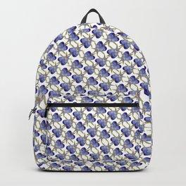 Pretty purple painterly flower Backpack
