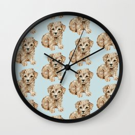 Schnoodle Pups Wall Clock