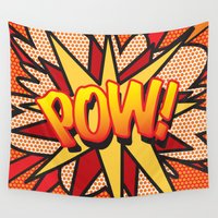 comic book Wall Tapestries featuring Comic Book POW! by The Image Zone