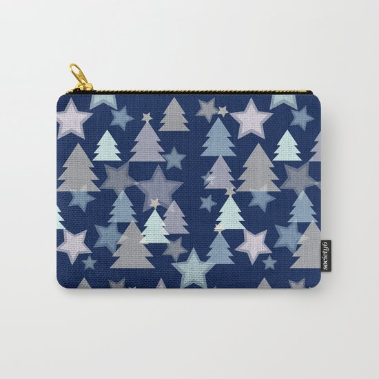 Christmas Landscape blue Carry-All Pouch