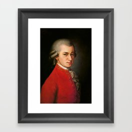 Wolfgang Amadeus Mozart (1756 -1791) by Barbara Krafft (1819) Framed Art Print