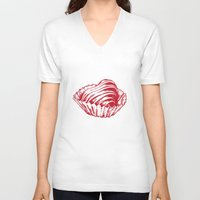 valentine V-neck T-shirts featuring Valentine by Katy V. Meehan