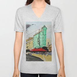 San Francisco Sentinel Building, 1907 Unisex V-Neck