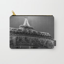 Eiffel Tower 2 (Black and White) Carry-All Pouch