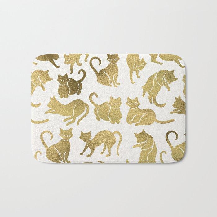 Cat Positions – Gold Palette Bath Mat