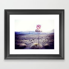 One Way to nowhere Framed Art Print