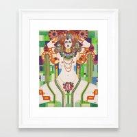 vagina Framed Art Prints featuring Vagina Monologues by Morgan Fay