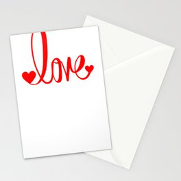 Love Typography Stationery Cards