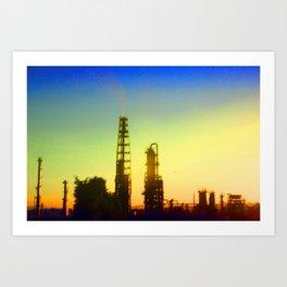 Gradient Industrial Landscape Art Print