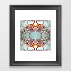 Delicate cherry blossoms Framed Art Print