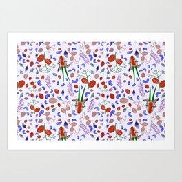 Cashew Nuts Pattern (Version 4) Art Print