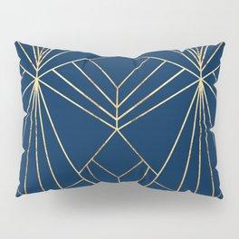 Navy & Gold Art Deco - Large Scale Pillow Sham