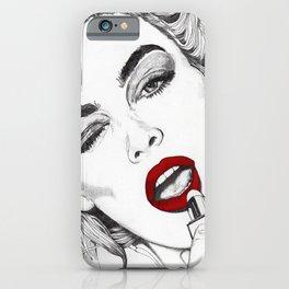 LIPSTICK GIRL iPhone Case