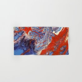 red and blue flow Hand & Bath Towel