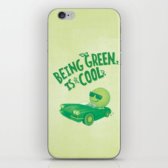 Being Green is Cool iPhone & iPod Skin