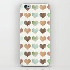 DG HEARTS - RUSTIC iPhone & iPod Skin