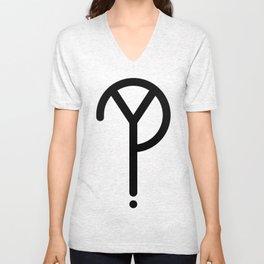 Black Y? Symbol Unisex V-Neck