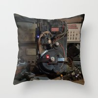 "ghostbusters Throw Pillows featuring Ghostbusters - ""Workbench""  by Matthew Clark"