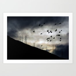Flying high in Arrochar Art Print
