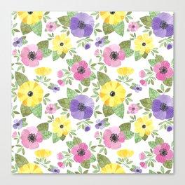Spring Bouquet Watercolor Canvas Print