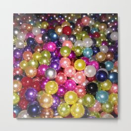Rainbow beads Metal Print