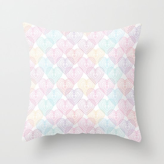 Patterns Of My Heart Throw Pillow