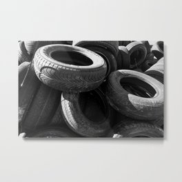 Tires on Tires Metal Print
