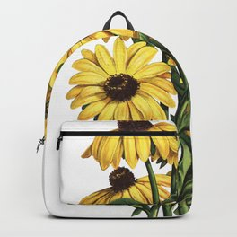 Black-Eyed Susan Yellow Flowers Painting Backpack