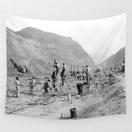 Panama Canal construction Wall Tapestry