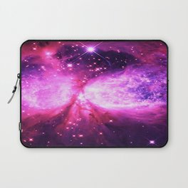 Space Galaxy : a Star is born Pink Purple Laptop Sleeve