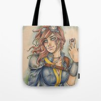 fallout Tote Bags featuring Fallout by foxandolive
