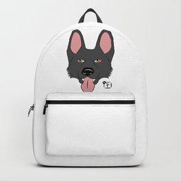 Black German Shepherd Face Backpack