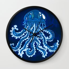 Misterious jellyfish Wall Clock