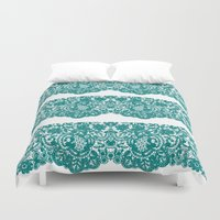 lace Duvet Covers featuring Lace by reesebloomdesigns