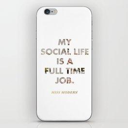 Social Life iPhone Skin